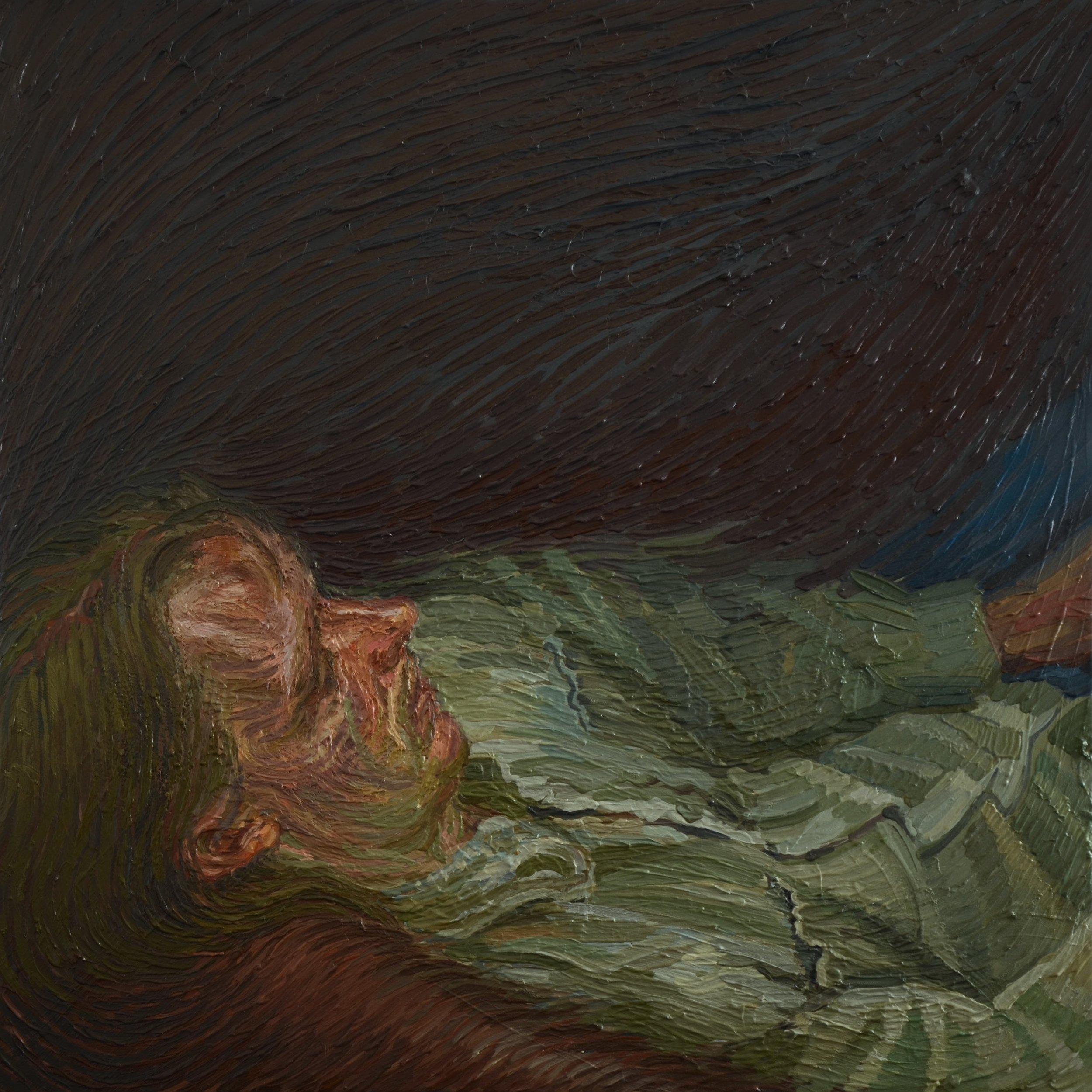 Charlie Schaffer, Chris, oil on canvas, 75 x 75 cm,  http://www.charlieschaffer.com