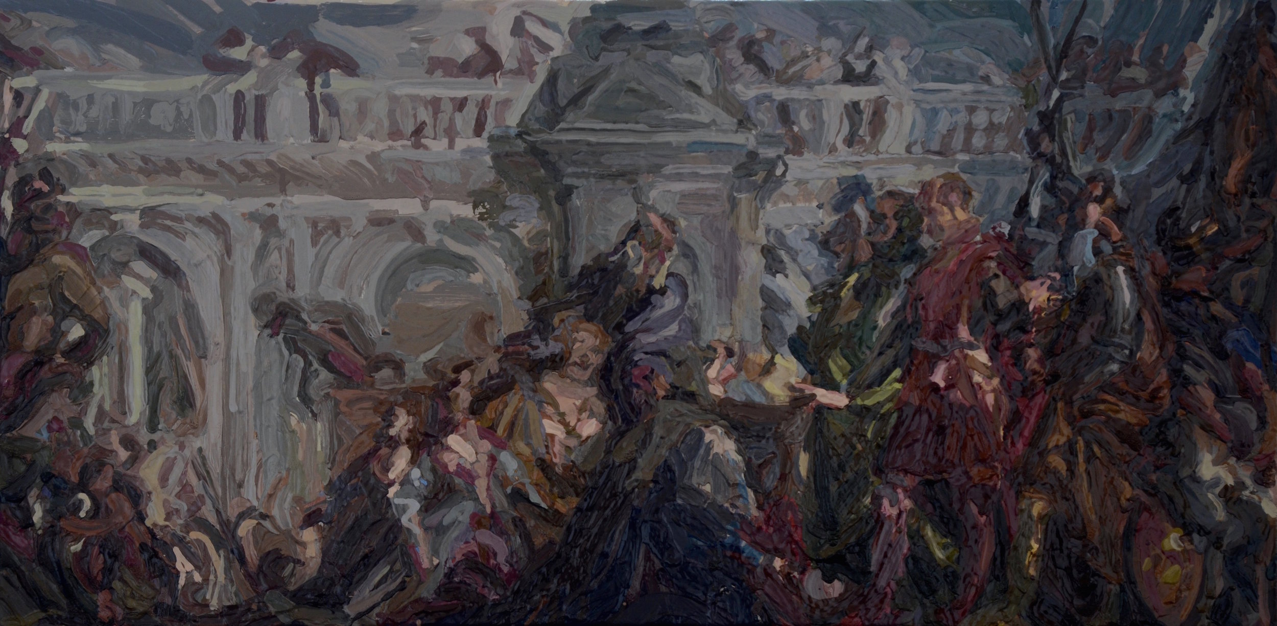 Charlie Schaffer, After Veronese, oil on canvas, 35 x 70 cm,  http://www.charlieschaffer.com