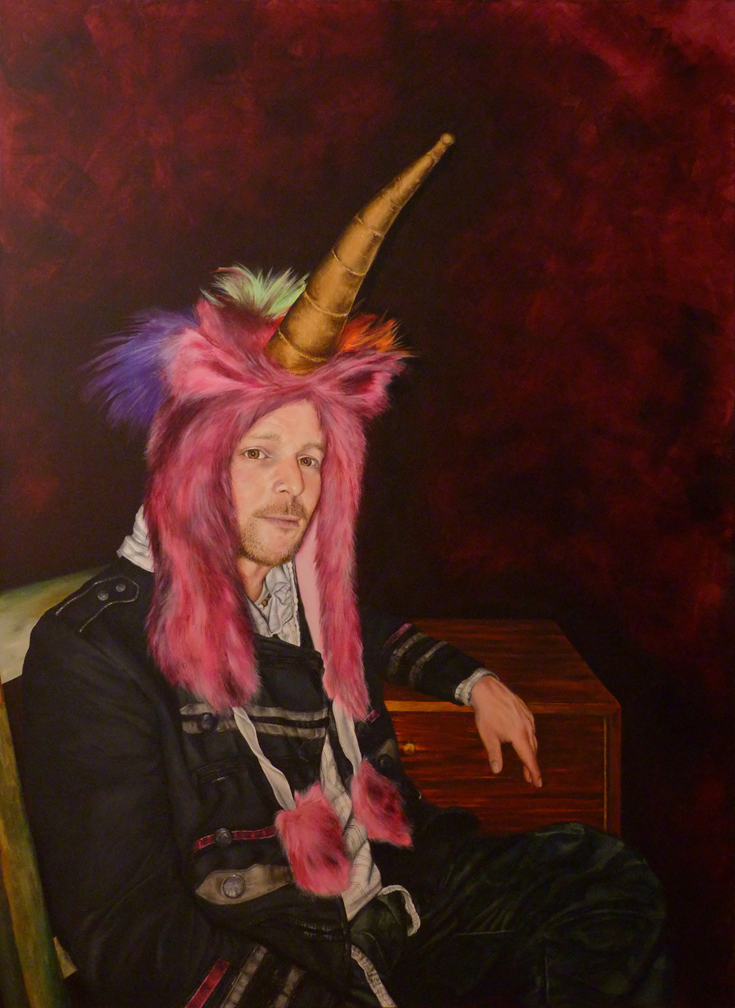 Deborah Ireland, Uncle Steve, Acrylic on canvas, 154 cm x 112 cm x 3.5 cm,  http://deborahireland.com