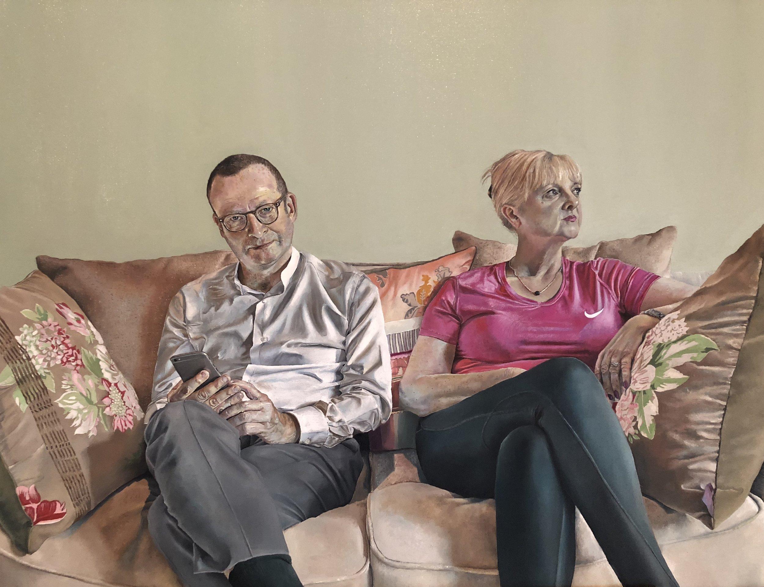 Hannah Murray, Mum and Dad, Oil on Canvas, 55 x 68 cm,  http://www.hannahmurray-art.com