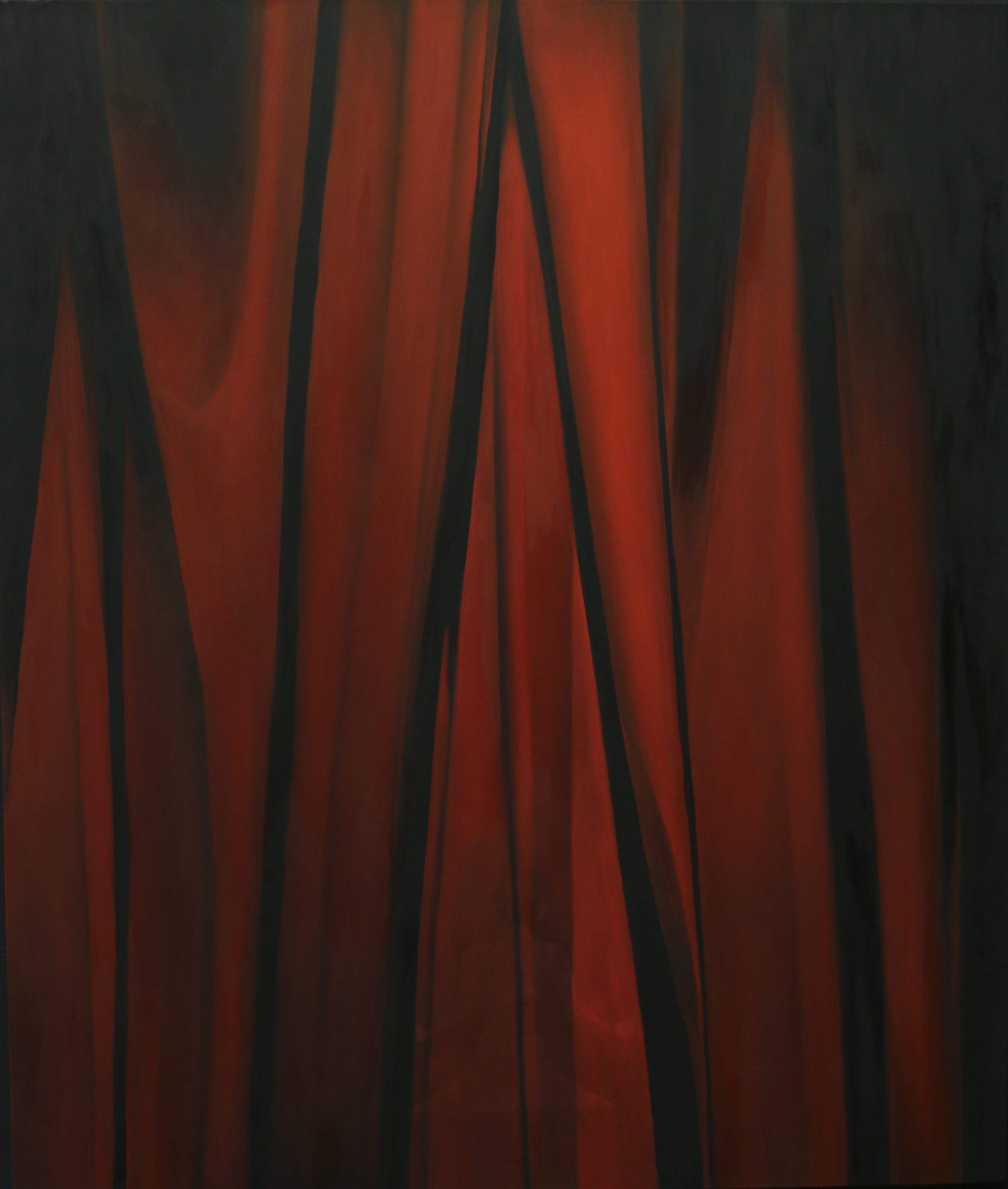 Alina Pecherskaya, Iron Curtain Nowadays, oil on canvas, 190 cm x 160 cm,  https://www.instagram.com/pecherskaya_art/