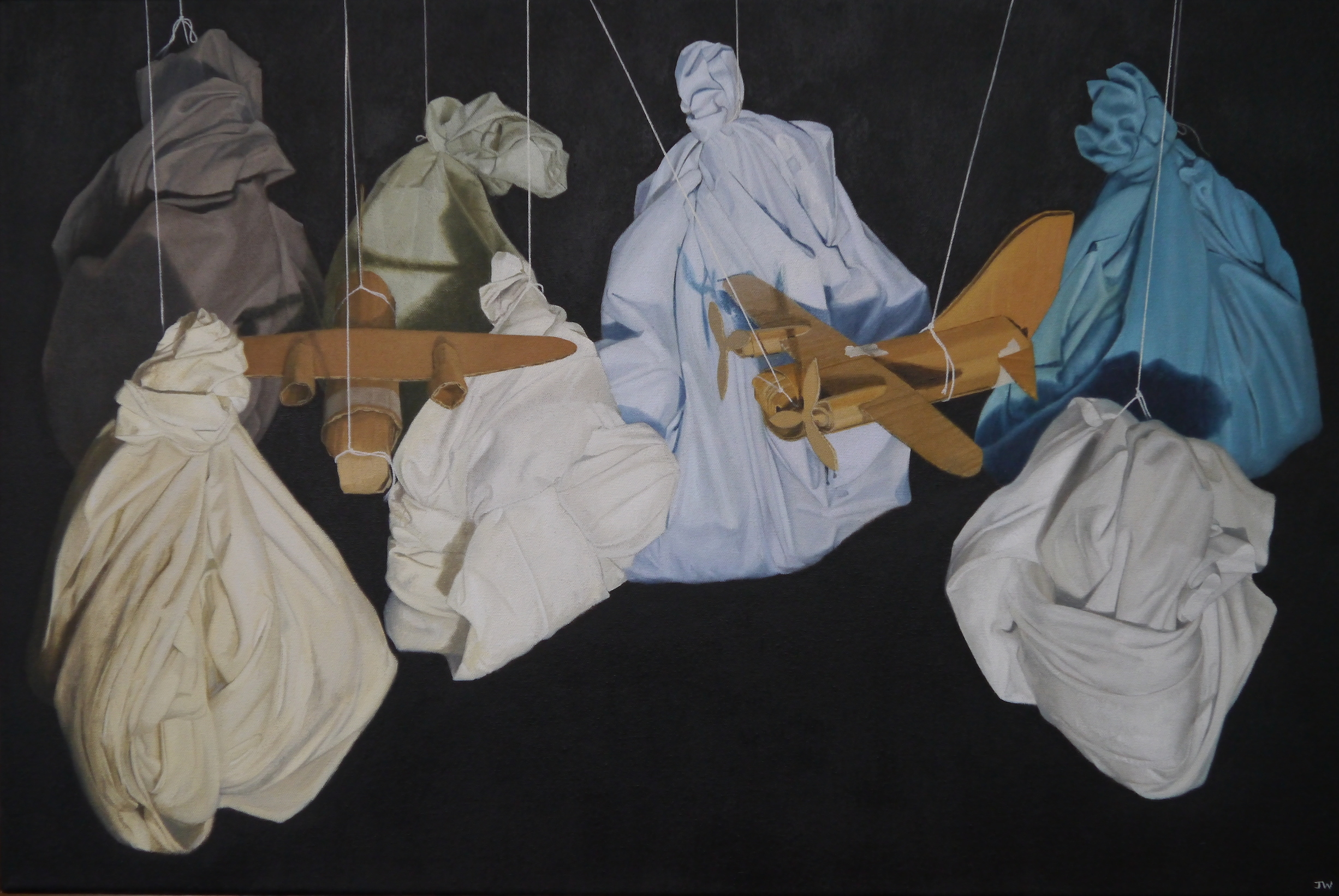 John Whitehill, Left Hanging IV, Oils on canvas, 75 x 50 x 4,  http://johnwhitehill.co.uk