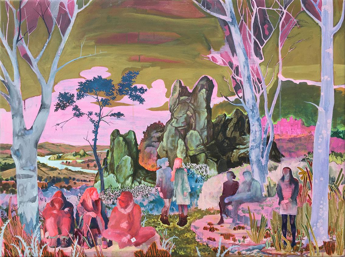 Rene Gonzalez, Fortress rebuild series, Acrylic on canvas, 80 x 100 x 2 cm,  http://www.therenegonzalez.com