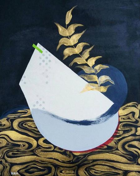 Acrylic Prize Winner (£200 Jackson's Art Gift Voucher): 'Lega.sea' by Nah Pinheiro,  Read more about the artwork.
