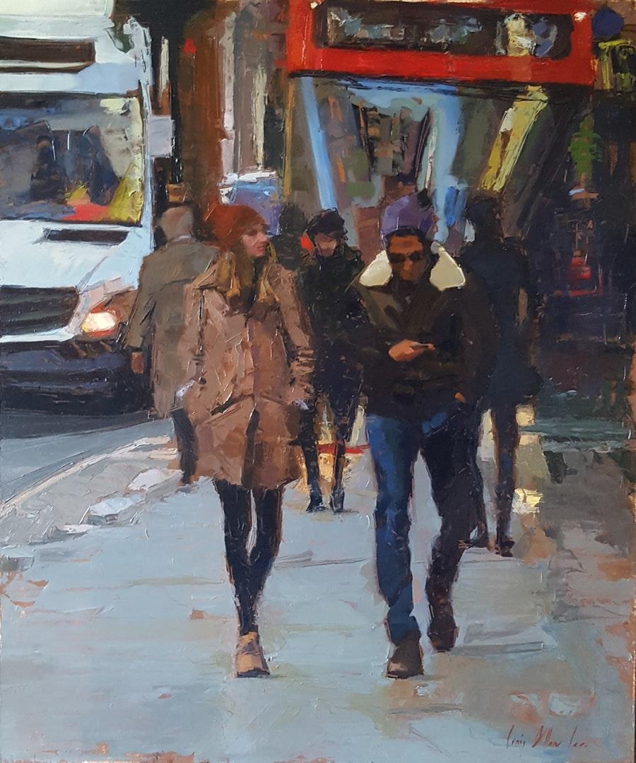 Craig Lee , 'London Street in Winter', Oil on Panel, 30 x 50 cm