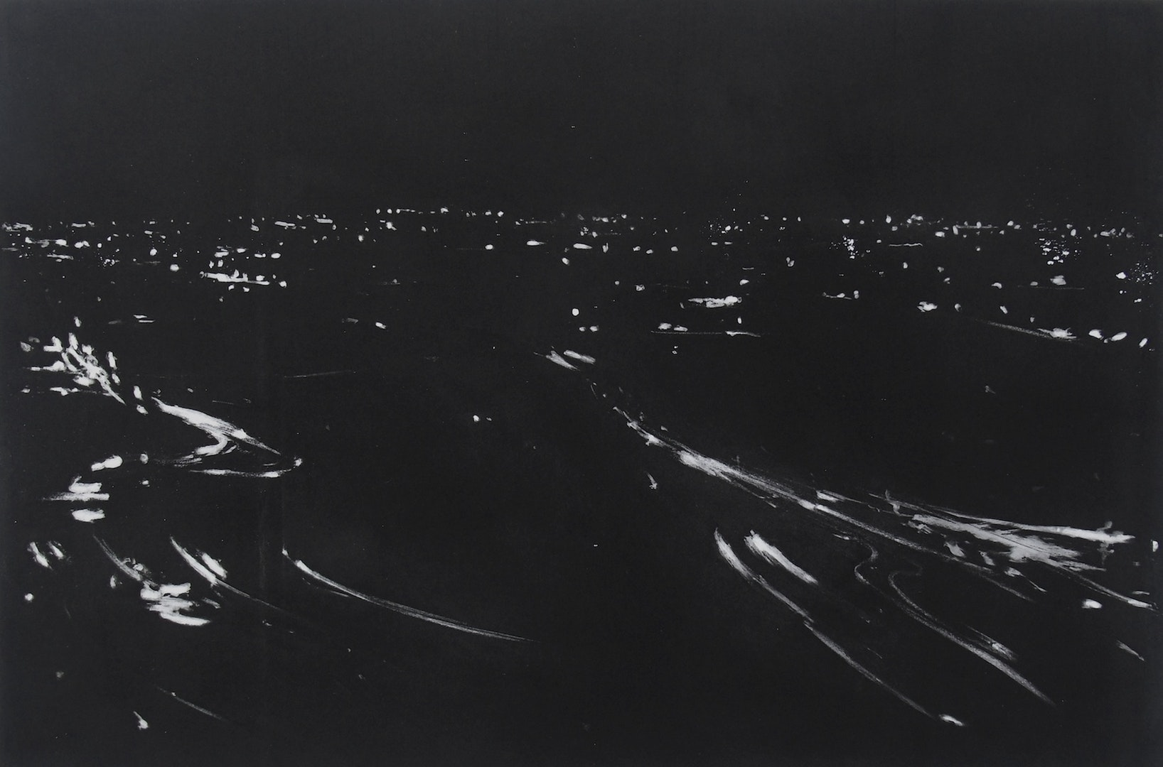 Printmaking Prize Winner (£400 Jackson's Art Gift Voucher): 'Night Flux #4' by Francesco Poiana.    Read more about the artwork.