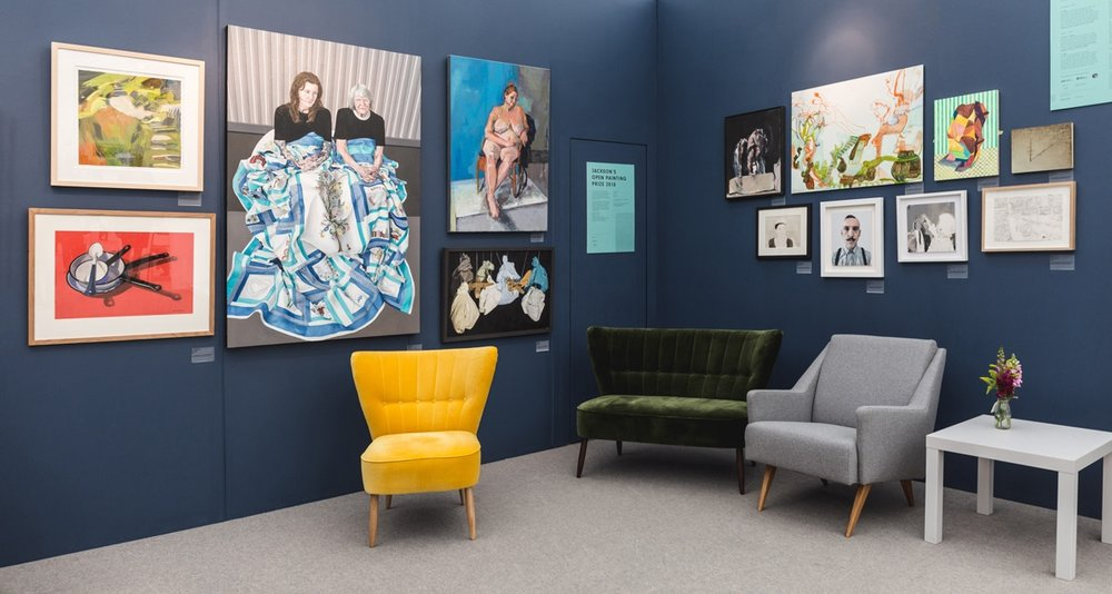 Jackson's Open Painting Prize exhibiting the shortlisted artists at the Affordable Art Fair Hampstead, 2018.