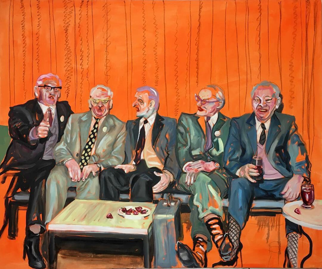 Adam Baker   Friends that cross together stay together   Oil on canvas, 150 x 180 x 4 cm  http://adambakerart.co.uk