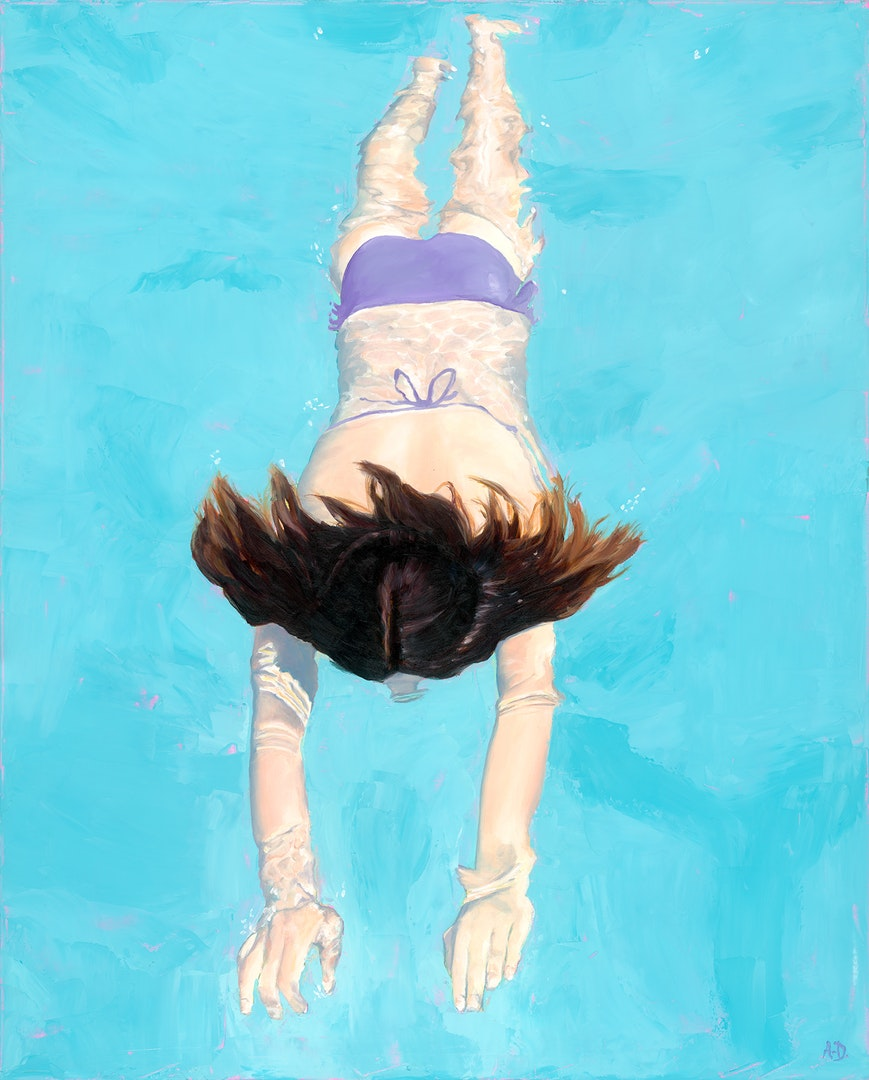 Amy Devlin  Surface Reflections  Oil on canvas, 75 x 60 x 1.5 cm  http://www.amydevlinart.com