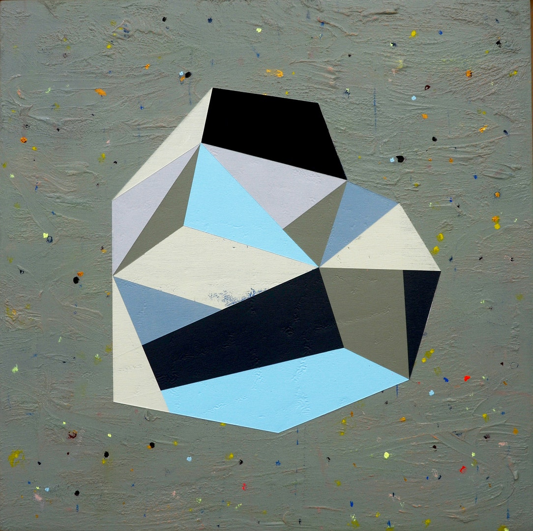 Andre Stitt  Citizen House ll (Pole Star)'  Acrylic on wood panel, 51 x 51 cm  http://www.andrestitt.com
