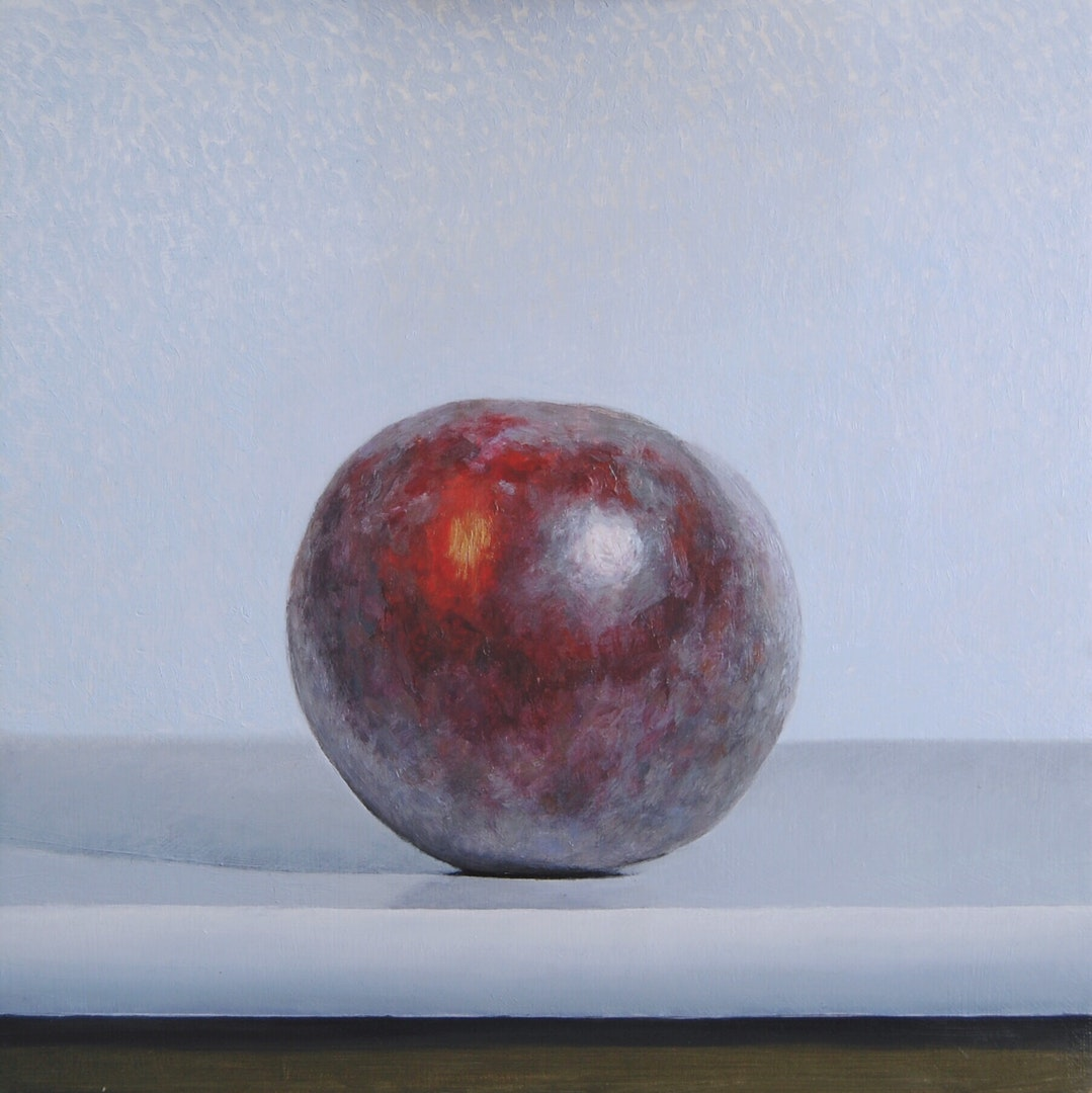 Andrew Thompson  Plum  Oil on Aluminium, 20 x 20 cm