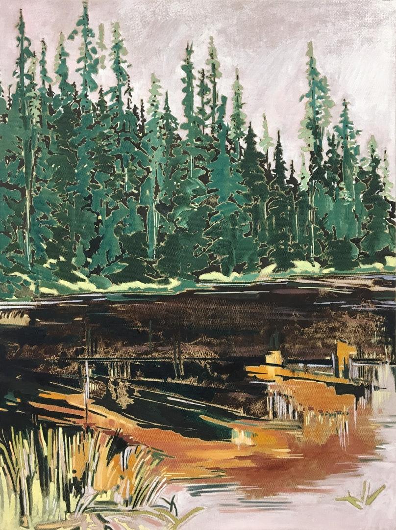 Ange Mullen-Bryan  Umbra  Oil on linen, 46 x 61 cm  http://www.angemullenbryan.com