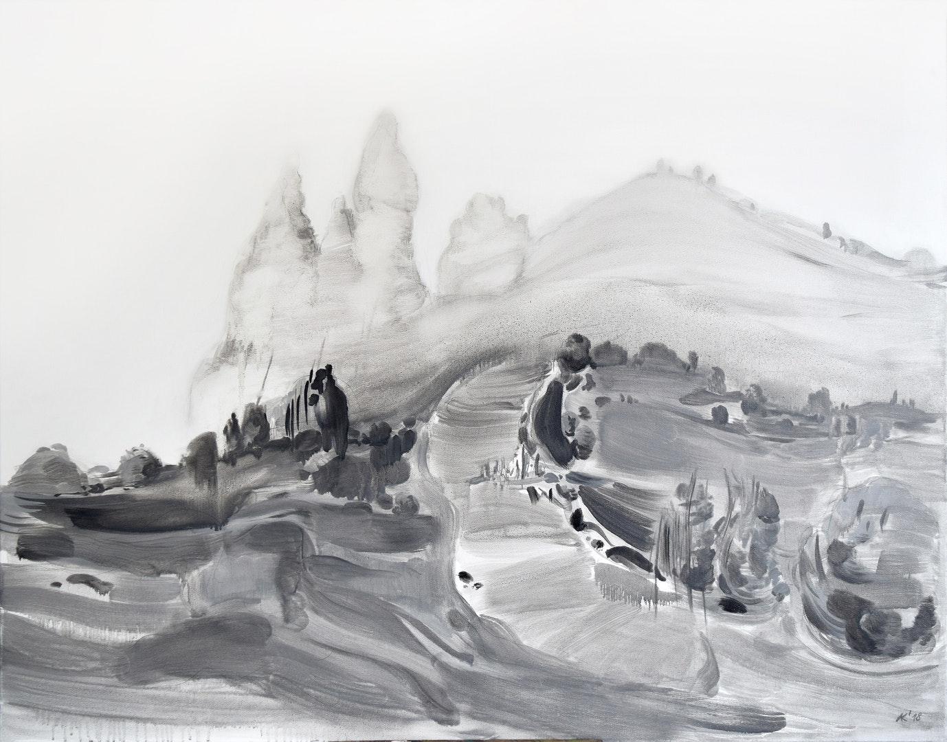 Asta Kulikauskaite-Krivickiene  Island III  Oil on canvas, 70 x 90 x 2 cm  https://www.facebook.com/astapainting/