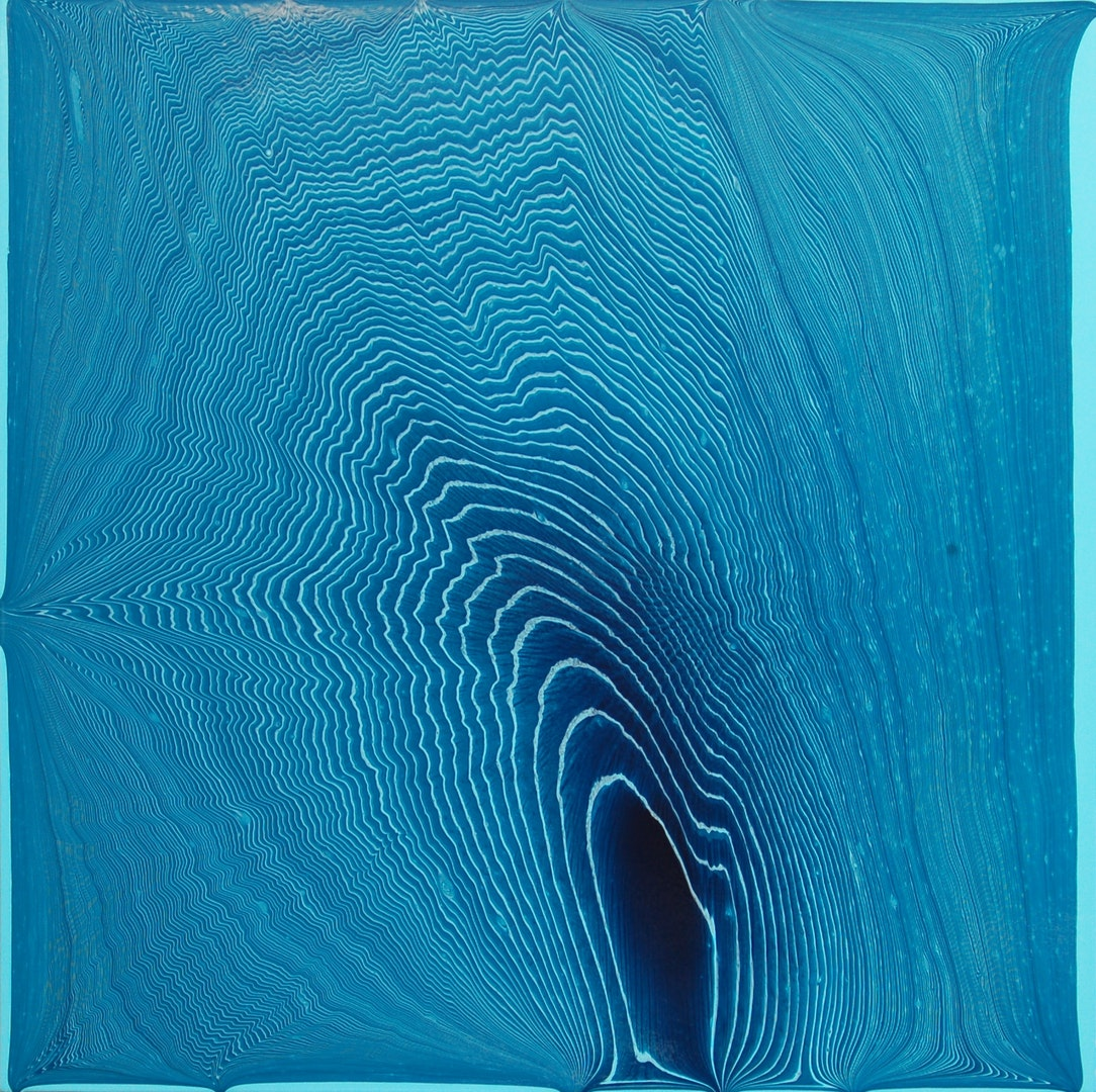 Bryan Lavelle  Tipping Point (Muted Turquoise / Light Blue Permanent) #2  Acrylic on MDF, 76 x 76 x 2 cm  http://www.bryanlavelle.co.uk