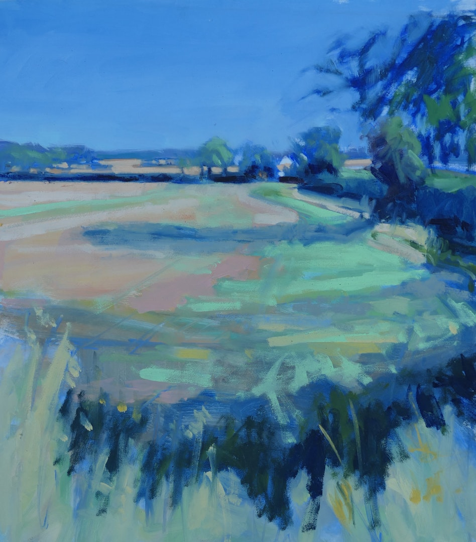 Chrissie Havers  Heavenly Blue  Oil on canvas panel, 40 x 36 x 2 cm  http://www.chrissiehavers.com