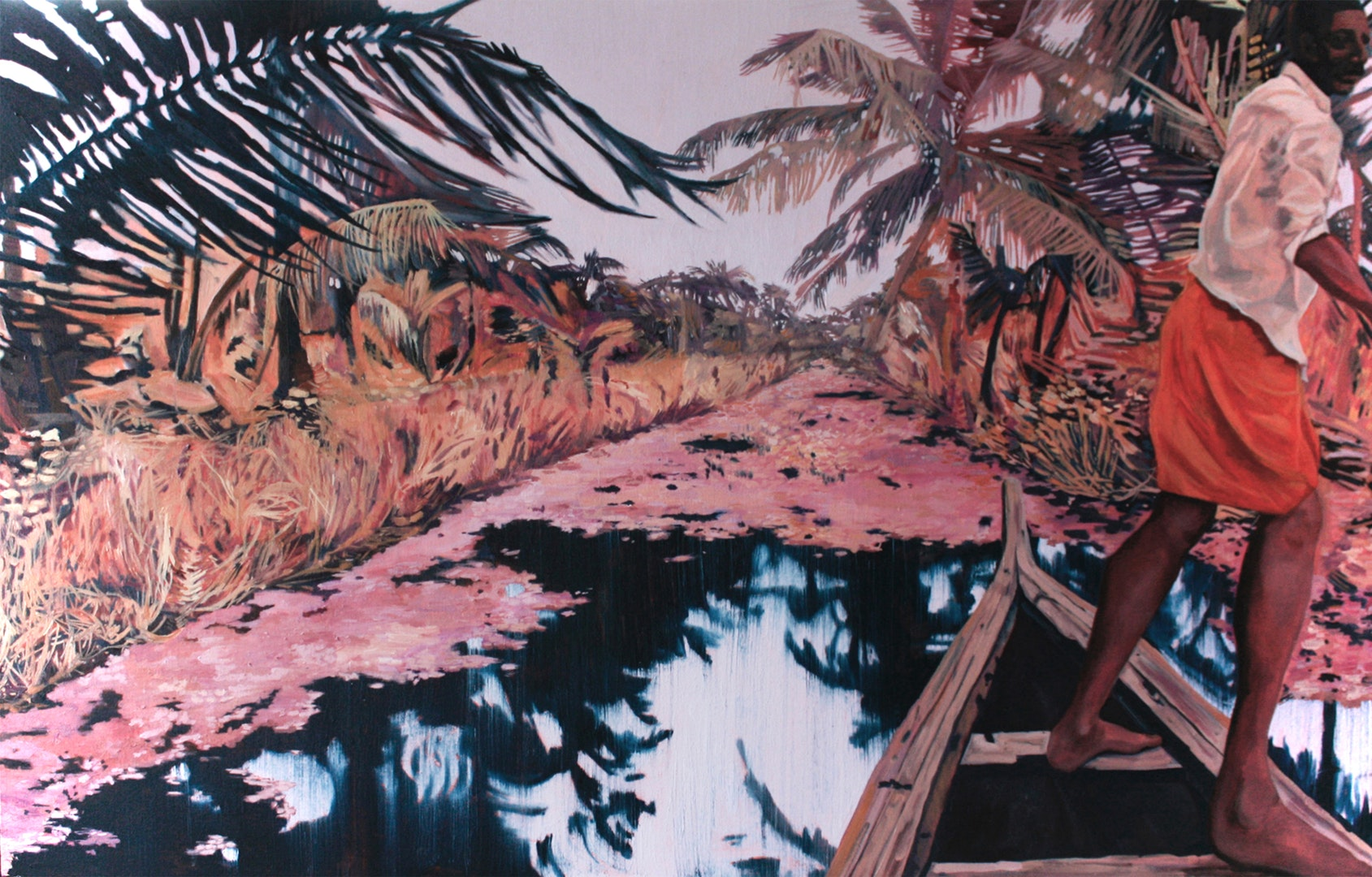 Claire Cansick  Backwater Dream  Oil on canvas, 76 x 123 x 4 cm  http://clairecansick.com