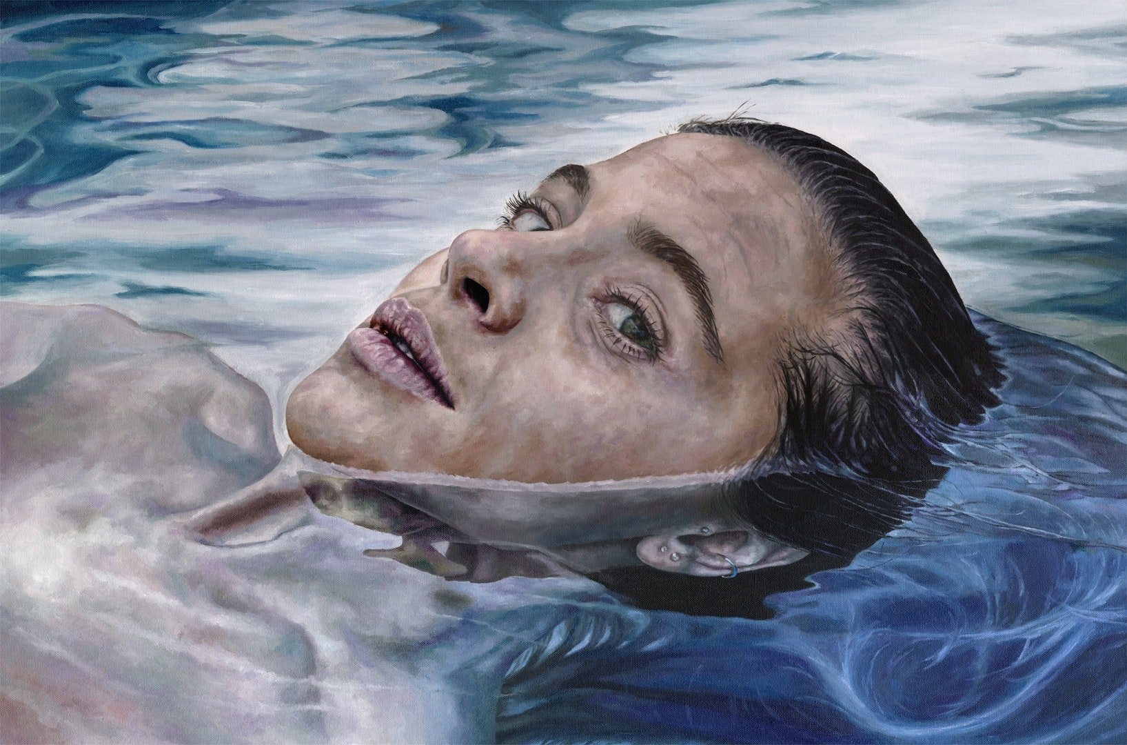 Corinne Young  Treading Water  Oil on Canvas, 61 x 91.5 x 4 cm