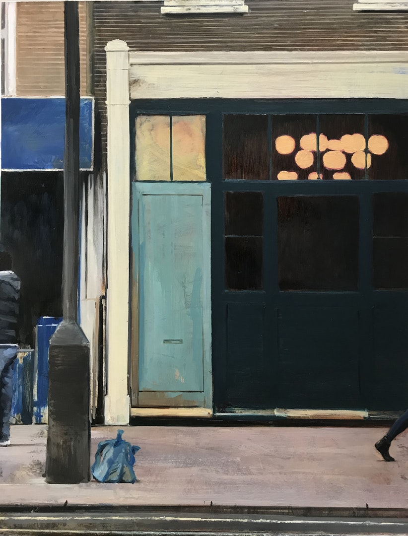 David Edmond  Street painting 6  Oil on Board, 61 x 48 cm  http://davidedmond.com