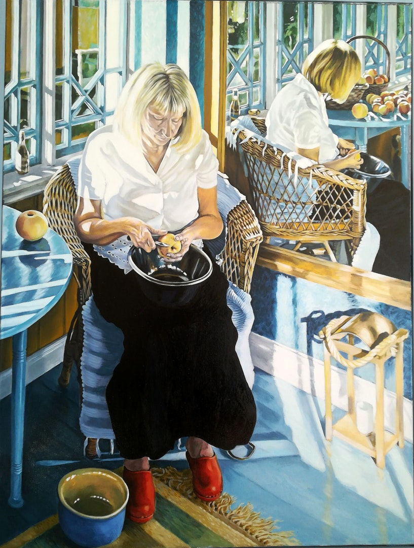 Eric Morris  EVE  Oil on canvas, 102 x 77 x 3 cm  http://needleeye.myartsonline.com/