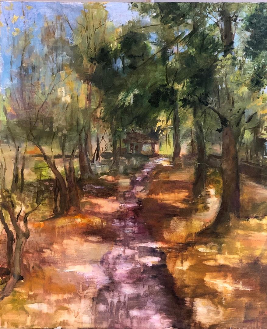 Eugenia Alekseyev  Early Autumn  Oil on canvas, 60 x 50 x 2 cm  https://www.artodyssey.co.uk/