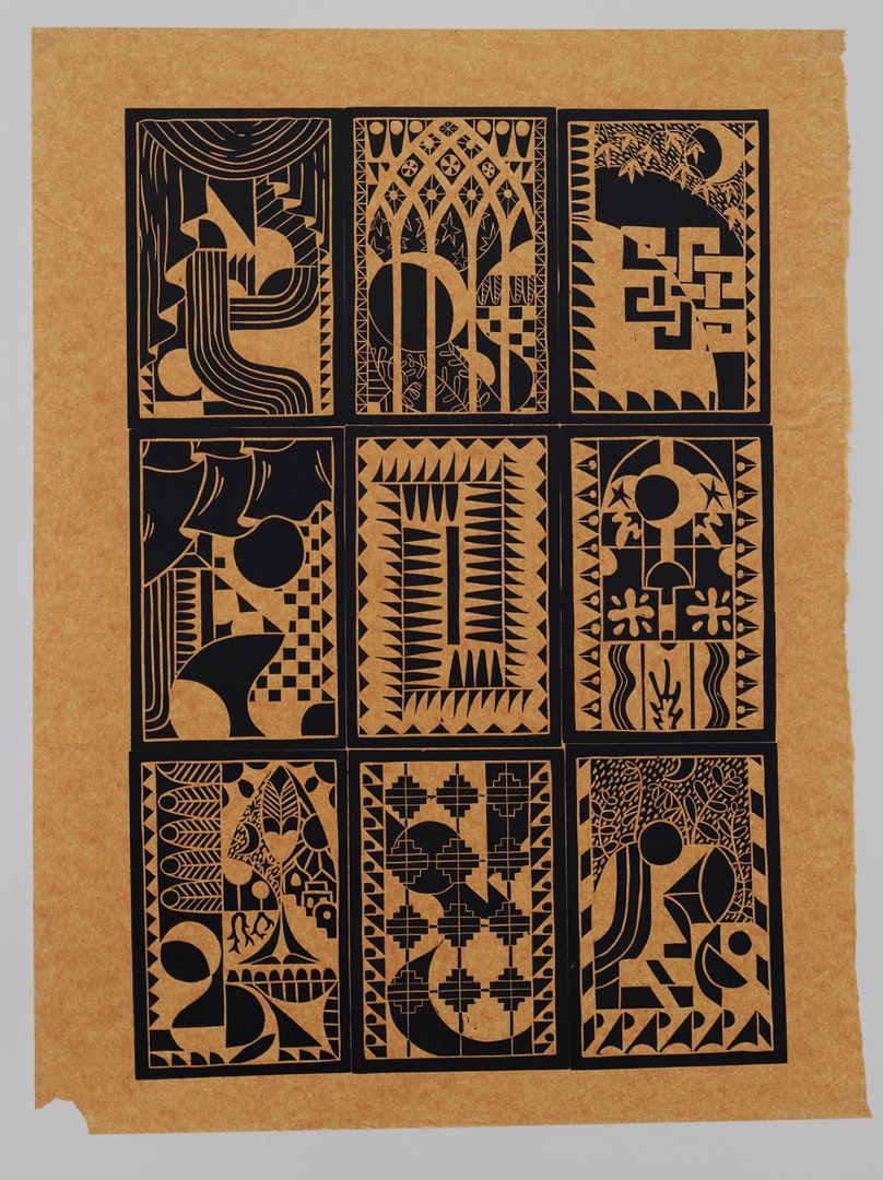 Harry Ross-Masson  Mosaic 1  Lino cut and Chine-collé, 84.1x 59.4 x 0.3 cm  http://www.instagram.com/harryrmprint/?hl=en