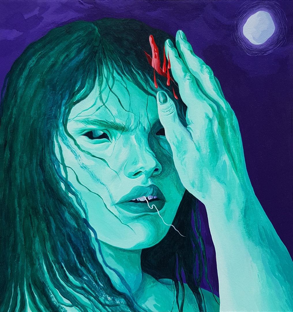 Ines Jakovljević  The inevitable  Acrylic on paper, 18 x 17.1 cm  http://art-creature.tumblr.com
