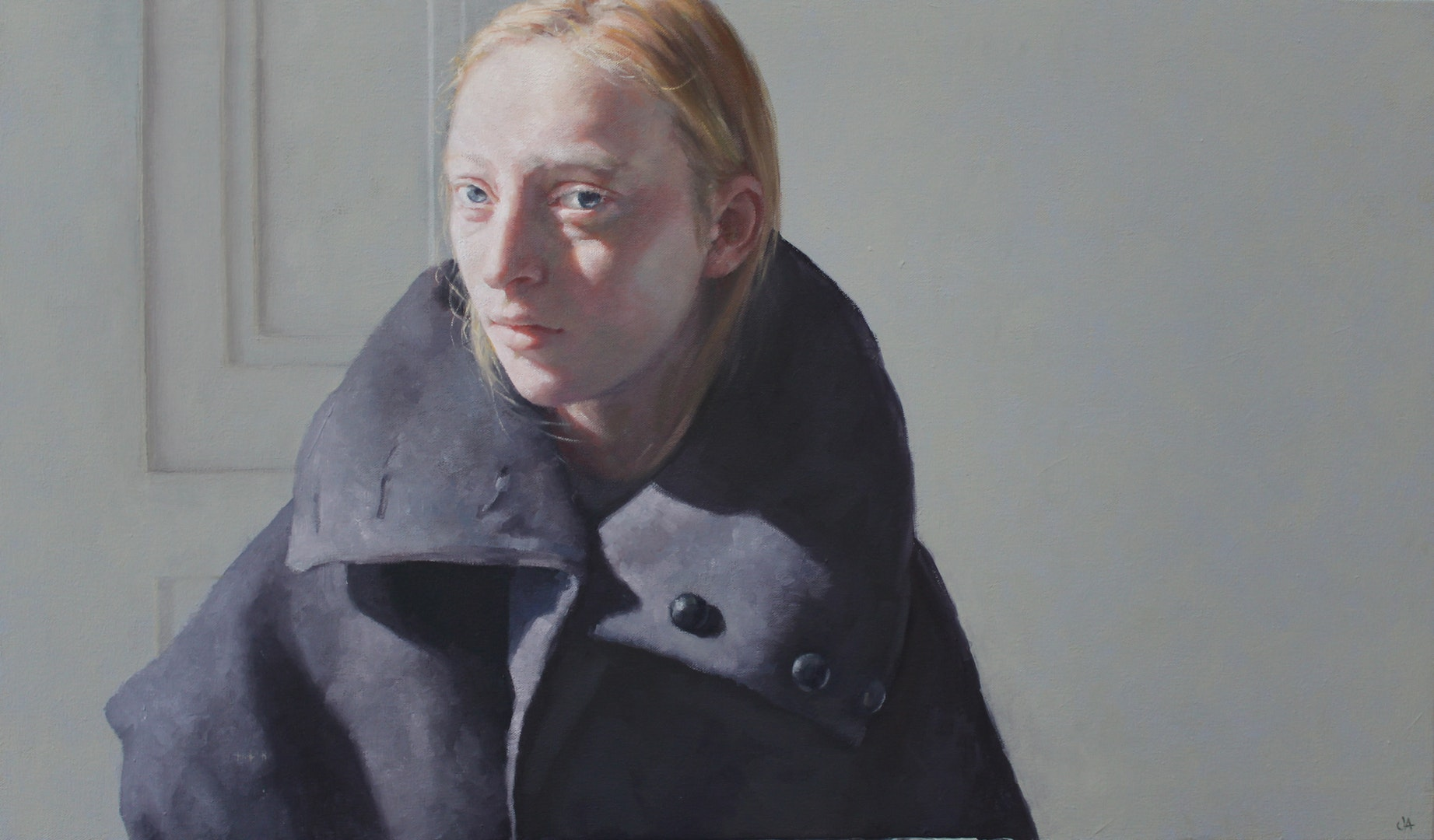 Jennifer Anderson  Lady Napoleon  Oil on canvas, 85 x 50 cm  http://www.jennifer-anderson.co.uk