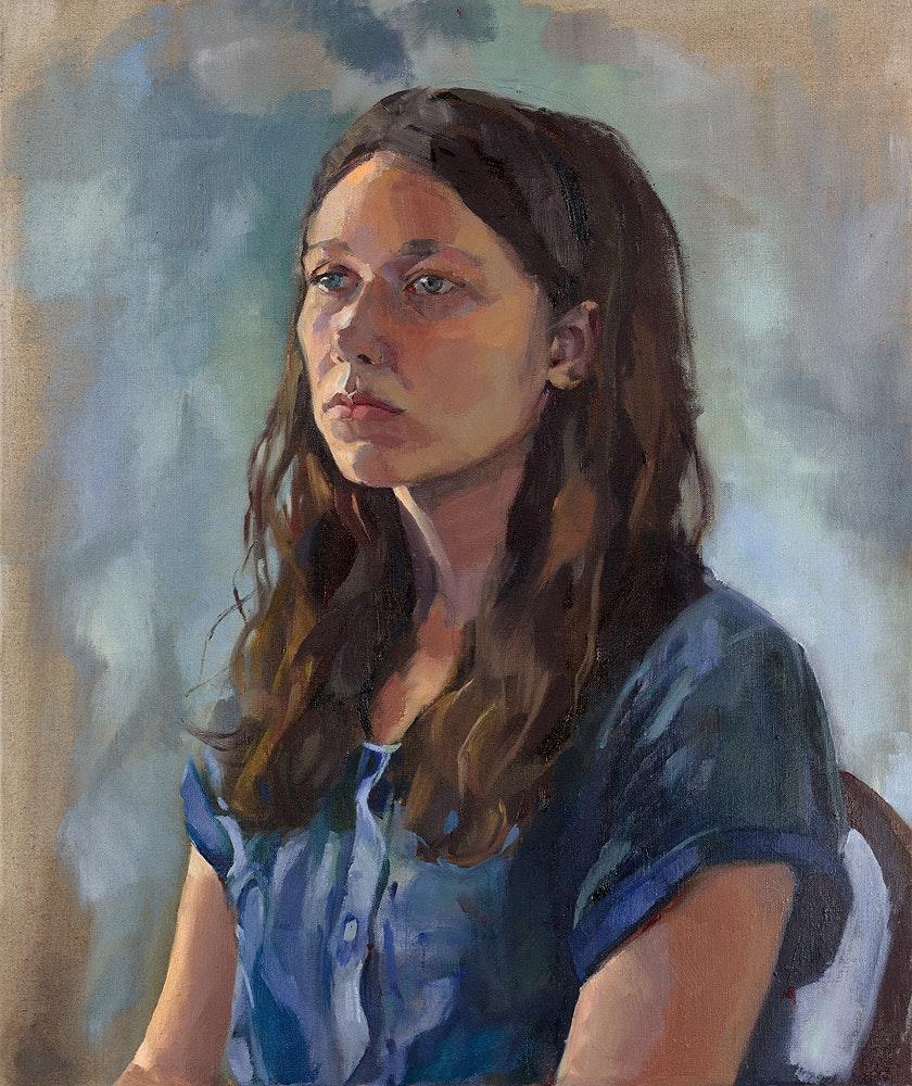 Jenny Fay  Portrait of a Young Artist  Oil on linen, 61 x 51 x 2 cm  http://www.jennyfay.co.uk
