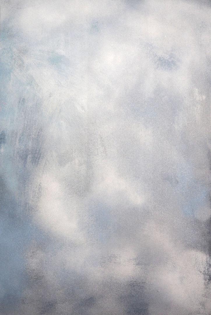 Jonathan Nickisson-Richards  Sky (311217)  Acrylic on board, 120 x 100 x 5 cm  http://www.nothingpainted.co.uk