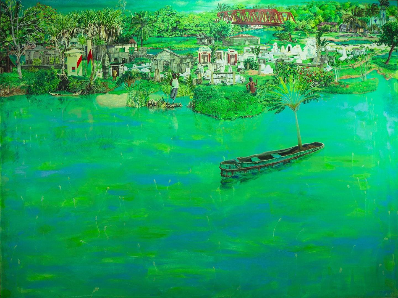 Josh Hollingshead  Manakara  Oil and acrylic on canvas, 183 x 122 cm  http://joshhollingshead.net