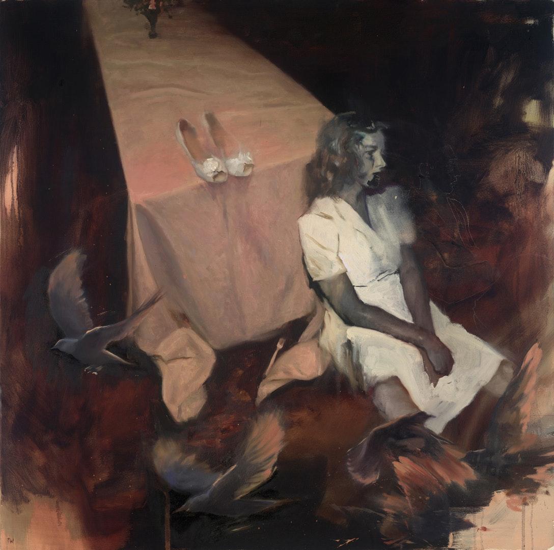 Joshua Flint  A Year of Soft Conversation  Oil on canvas, 91 x 91 x 4 cm  http://www.joshuaflint.com
