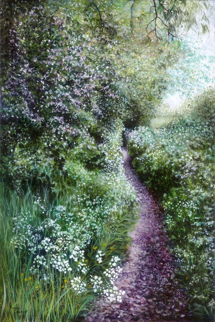 Karen Spencer  Solitude  Acrylic on canvas, 65 x 45 x 3.5 cm  https://www.karenspencerartist.co.uk