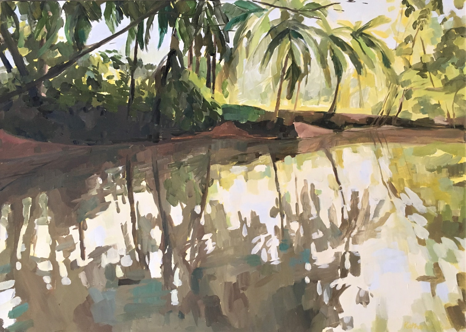 Katharine Rowe  Mangroves near Quepos, Costa Rica  Oil on canvas, 70 x 50 x 2 cm  http://www.katharinerowe.com