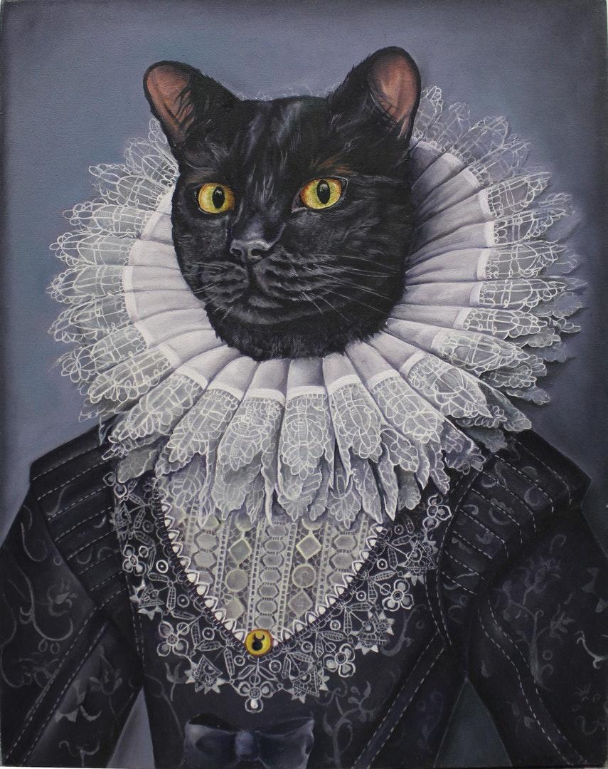 Kim Burns  Hekate  Oil on canvas, 86 x 71 x 3 cm  https://www.instagram.com/kim_burns_art/