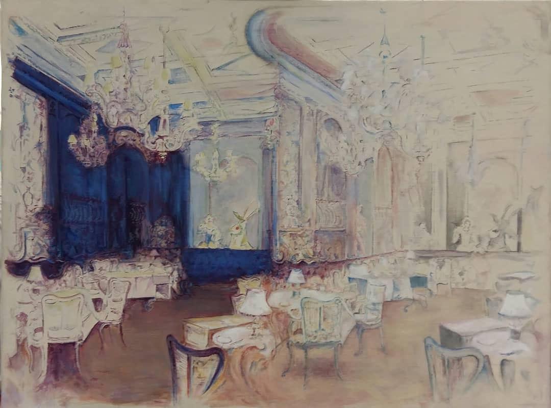 Linda Black  Dining Room 2  Oil on canvas, 46 x 61 cm