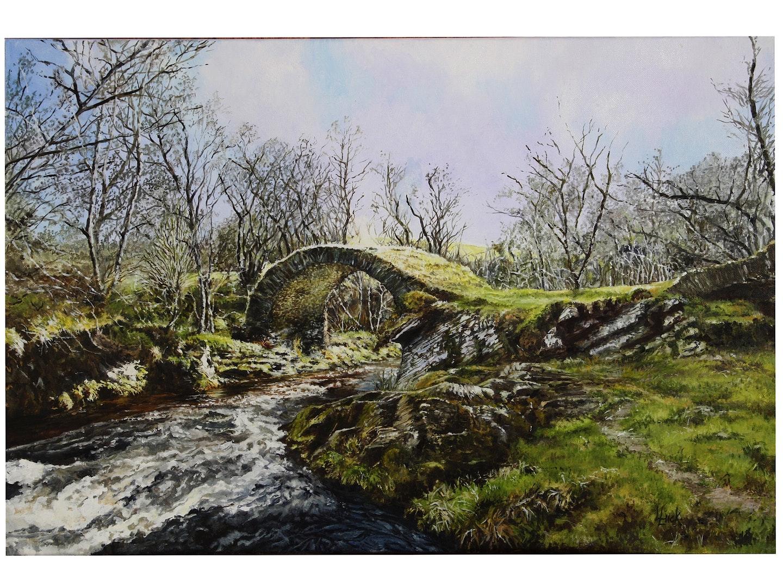 Lynda Luck  The Old Bridge of Livet  Oils, 40 x 60 x 4 cm