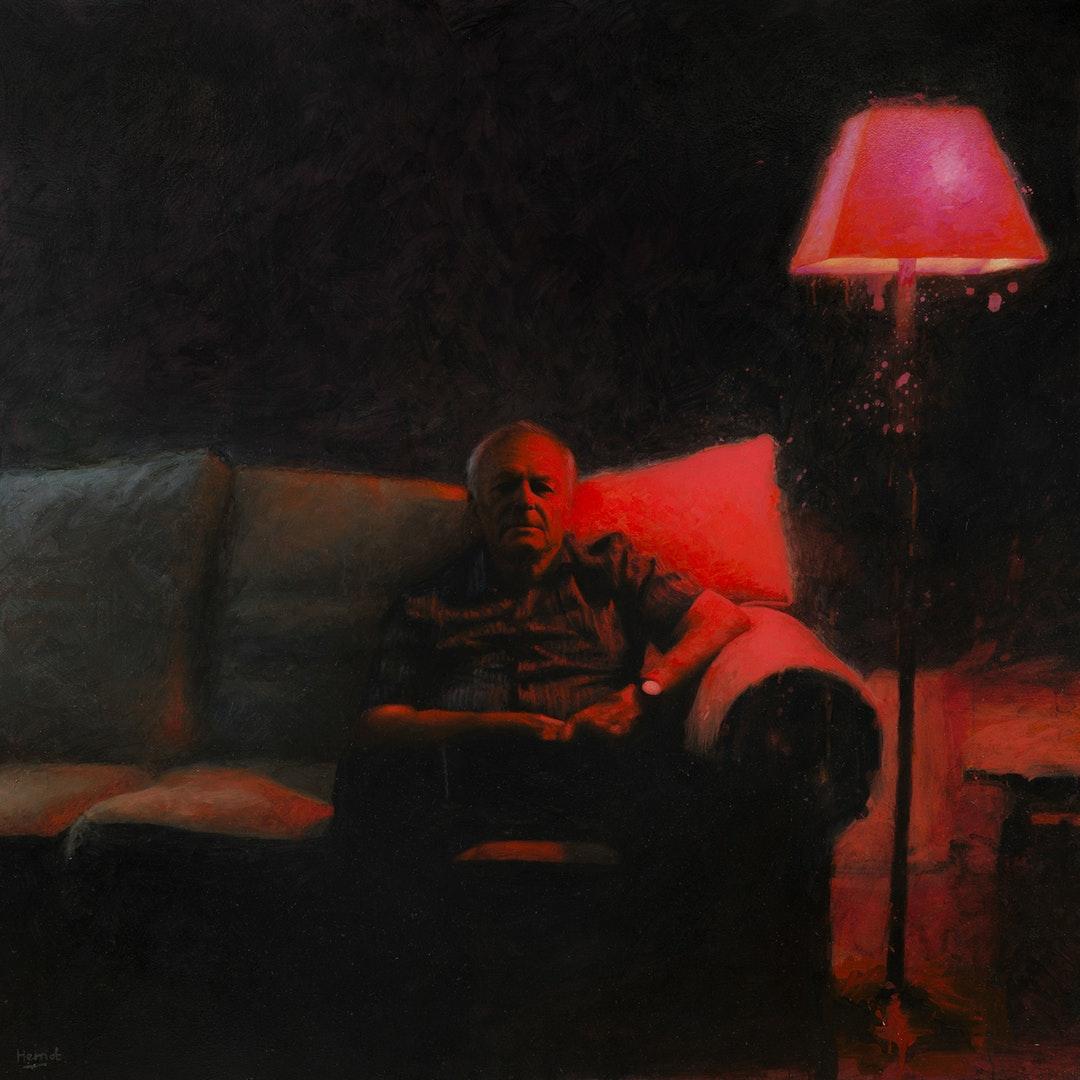 Matt Herriot  Remote II  Oil on canvas, 152 x 152 x 4 cm  http://www.herriotart.com