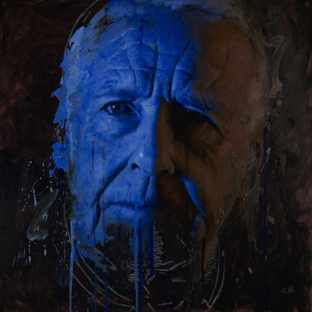Matt Herriot  Remote III  Oil on canvas, 121 x 121 x 4 cm  http://www.herriotart.com