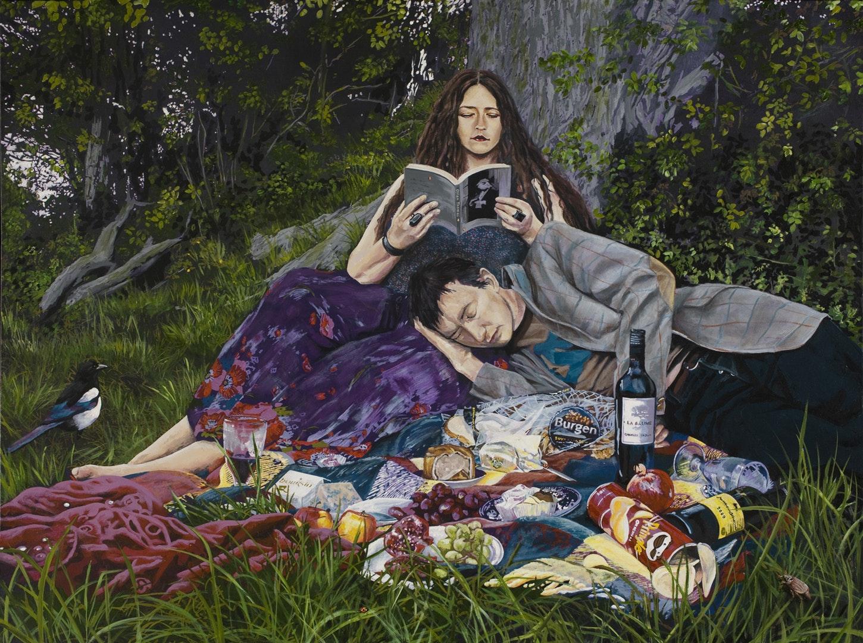 Matthew Stevens  Empty Couplet  Acrylic on Canvas, 91 x 122 x 4 cm