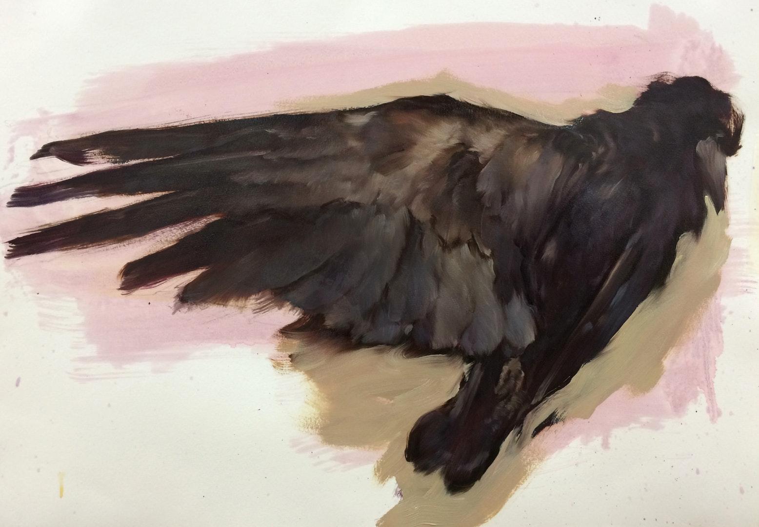 Michael Austin  Fly No More  Oil, 47 x 64 cm