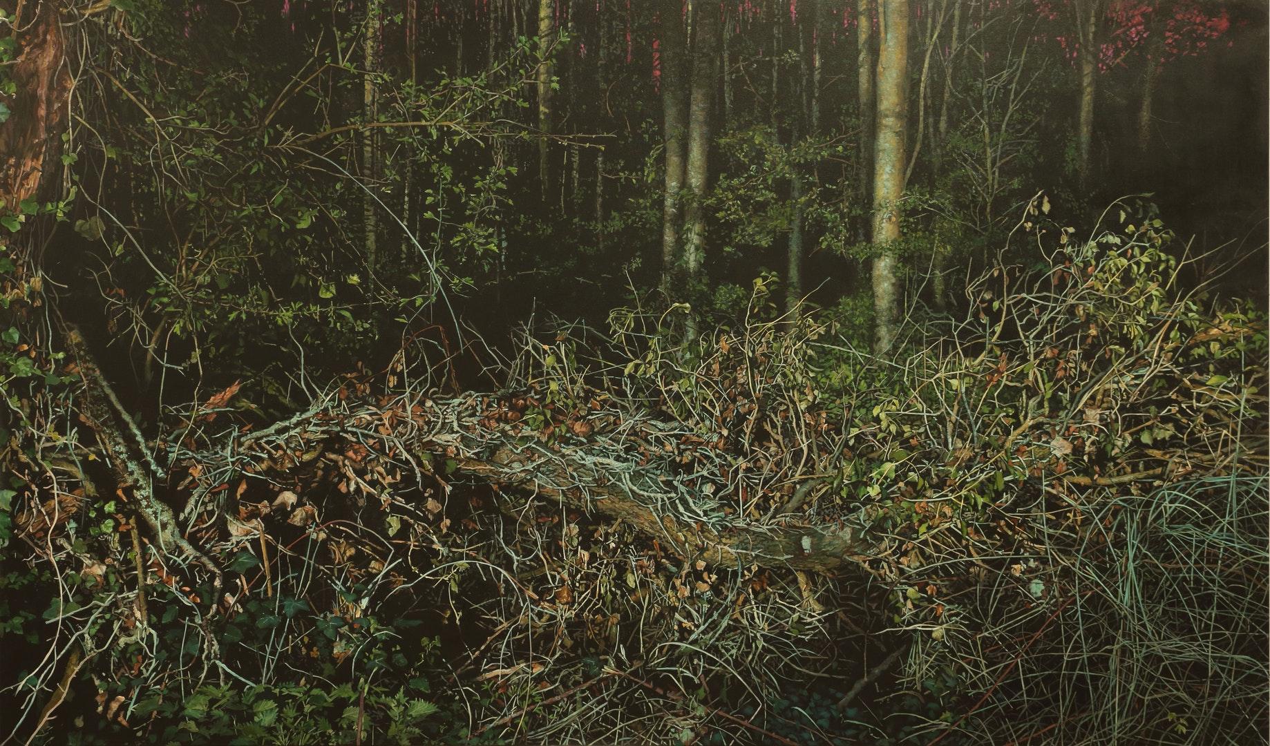 Michael Corkrey  Fallen (II)  Oil on canvas, 130 x 220 x 3.2 cm  http://www.michaelcorkrey.com