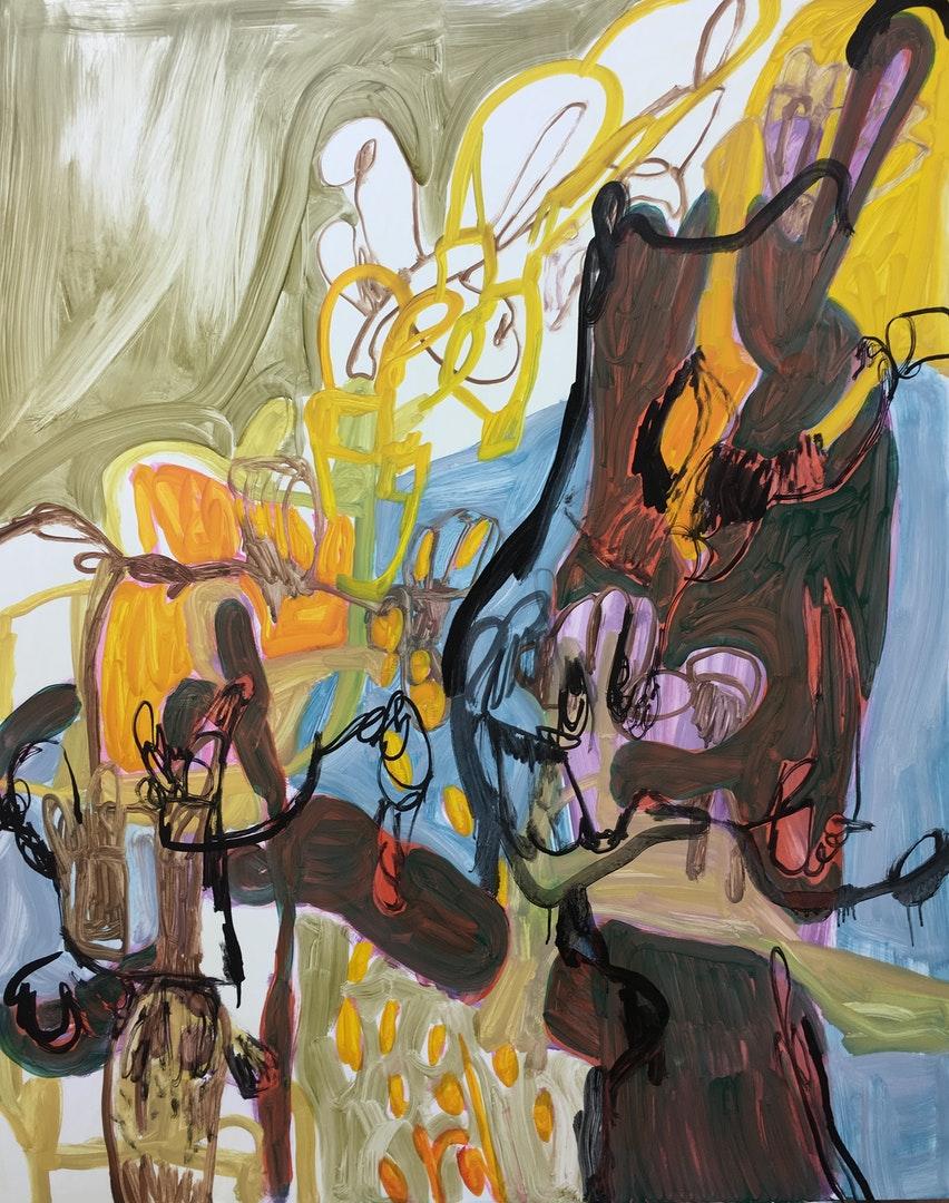 Nadja Gabriela Plein  Wechsellied  Oil on dibond, 100 x 80 x 1cm  http://nadjagabrielaplein.co.uk