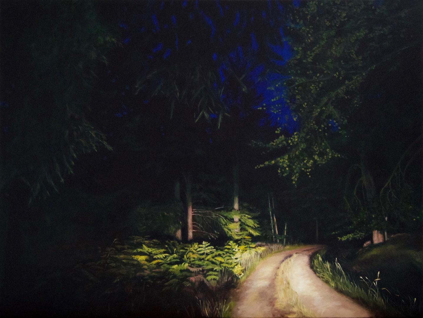 Natalie Dowse  Entre chien et loup 1  Oil on canvas, 90 x 120 x 3 cm  http://www.nataliedowse.co.uk