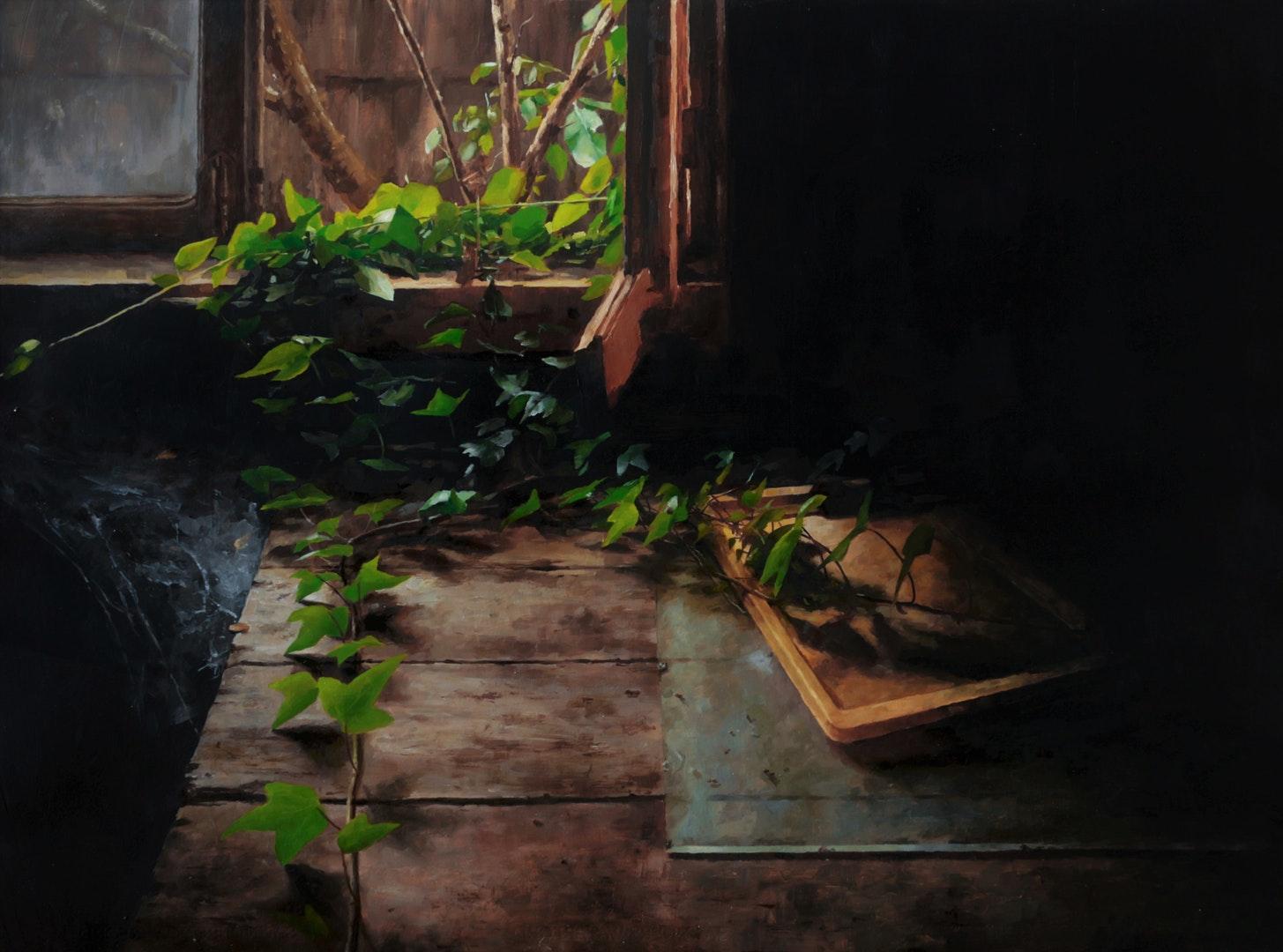 Neide Carreira  Cadence  Oil on paper, 56 x 76 cm