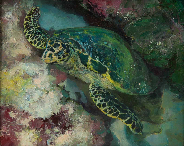 Olga Smolentseva  Turtle of wisdom  Oil on canvas, 30 x 40 cm  http://www.granischool.ru