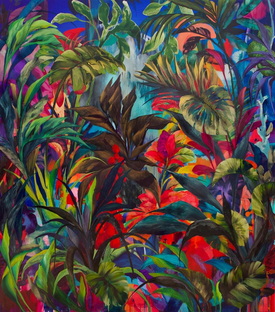 Orlanda Broom  Nunatak  Acrylic on canvas, 175 x 155 x 3 cm  https://orlandabroomartist.com/