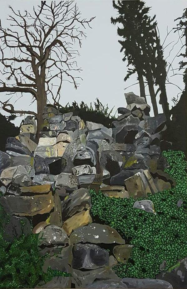 Paul Clifton  Genesis  Acrylic on canvas, 92 x 61 x 4 cm