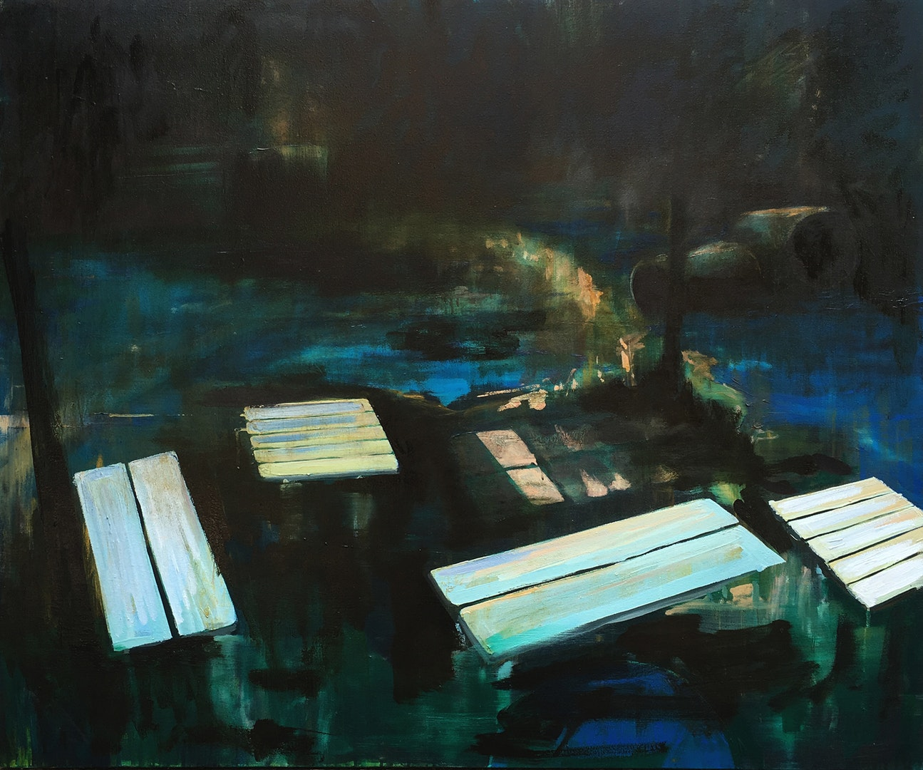 Paul Smith  Omens & Portents  Oil on canvas, 100 x 120 x 3 cm  http://www.paulsmithart.co.uk
