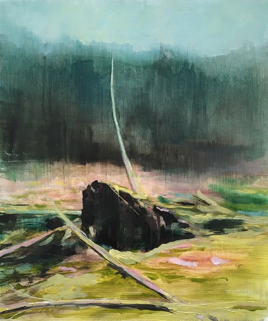 Paul Smith  The Fallen  Oil on Linen, 30 x 24 x 2 cm  http://www.paulsmithart.co.uk