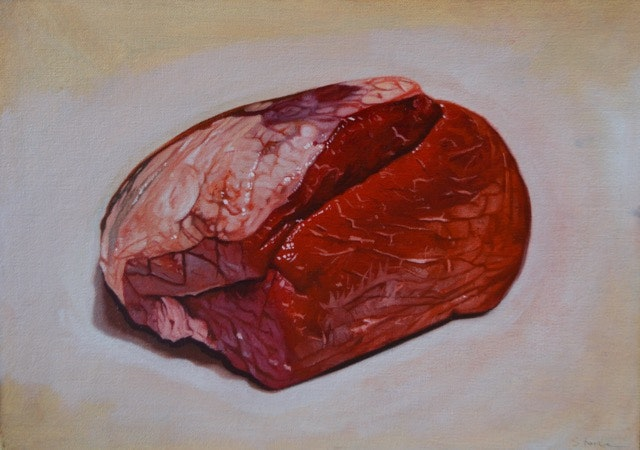 Paul Stone  Beef Joint  Oil on canvas board, 26 x 37 x 3 cm  http://www.facebook.com/Paul-Stone-Artworks